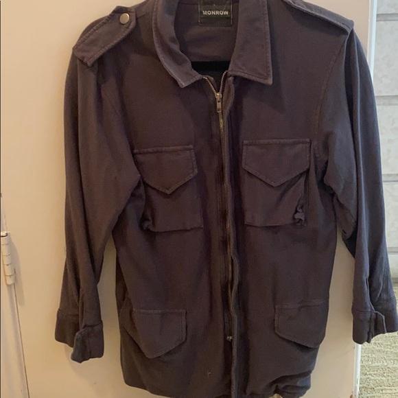 Monrow grey utility jacket